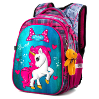 Neue Schule Tasche für Mädchen Jungen Kinder Orthopädische Rucksack Kinder Cartoon Einhorn Wasserdicht Schule Rucksäcke Primäre 1-3-4 Grade