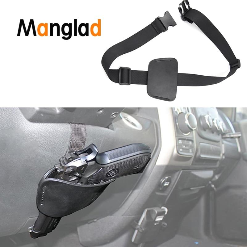 New Universal Adjustable Concealed Car Seat Pistol Holster Auto Accessories Vehicle Under Mattress Bed Pouch Hand Gun Holster