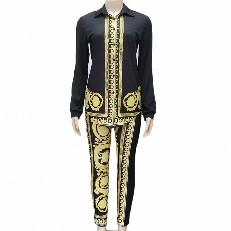 Africa Clothing African Suit For Women Sets New African Print Elastic Bazin Baggy Pants Rock Style Dashiki Sleeve Suit For Lady