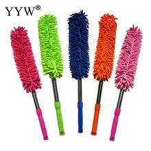 1pc soporte de limpieza de polvo Flexible cepillo estático Anti polvo limpiador cepillo hogar aire acondicionado muebles de coche limpieza herramientas