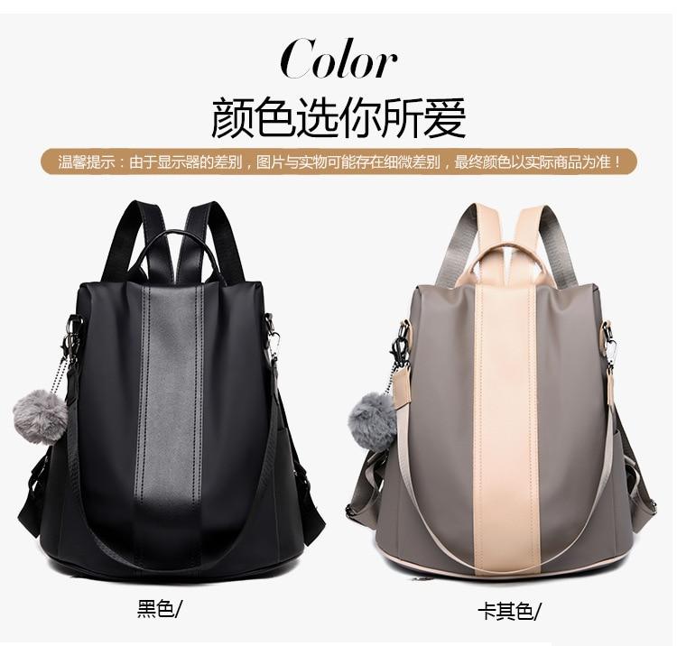 H0bf95950ccef4af7ab368130efaaee02G 2019 Women Leather Anti-theft Backpacks High Quality Vintage Female Shoulder Bag Sac A Dos School Bags for Girls Bagpack Ladies
