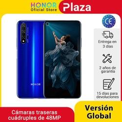 Смартфон глобальная версия Honor 20, 6 ГБ, 128 ГБ, Восьмиядерный Kirin 980, 6,26 дюйма, четыре камеры 48 МП, superCharge