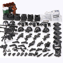 6Pcs SWAT Military Armee figuren Special Kräfte Team Soldat Waffe Pistole Bausteine Ziegel Kompatibel Mit Legoed