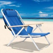 Портативное Высокопрочное пляжное кресло с регулируемым синим
