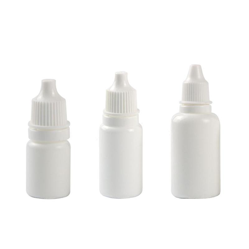 5ML/10ML/30ML 10pcs Eye Drops Bottle Small Drop Bottles Squeezable Dropper Bottles Empty Eye Case Dr Storage Plastic Liquid L3I1