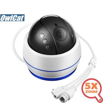 OwlCat HD 2MP 5MP domo PTZ interior IP Cámara Wifi 5X Zoom Auto foco Audio/micrófono seguridad CCTV Cámara SD ranura IR noche Onvif P2P