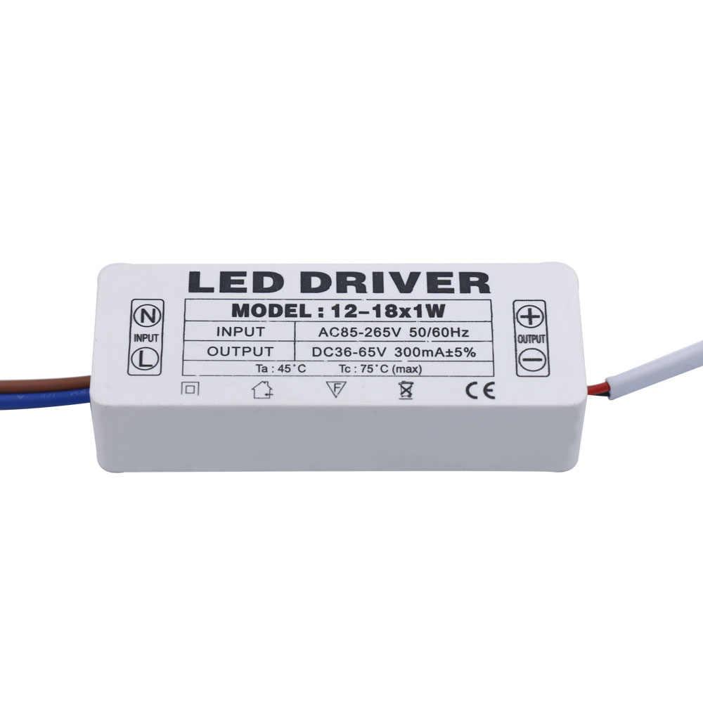LED נהג 300mA 1W 3W 5W 10W 15W 18W 20W 25W 30W 36W LED אספקת חשמל יחידה AC85-265V רובוטריקים תאורת LED אורות DIY