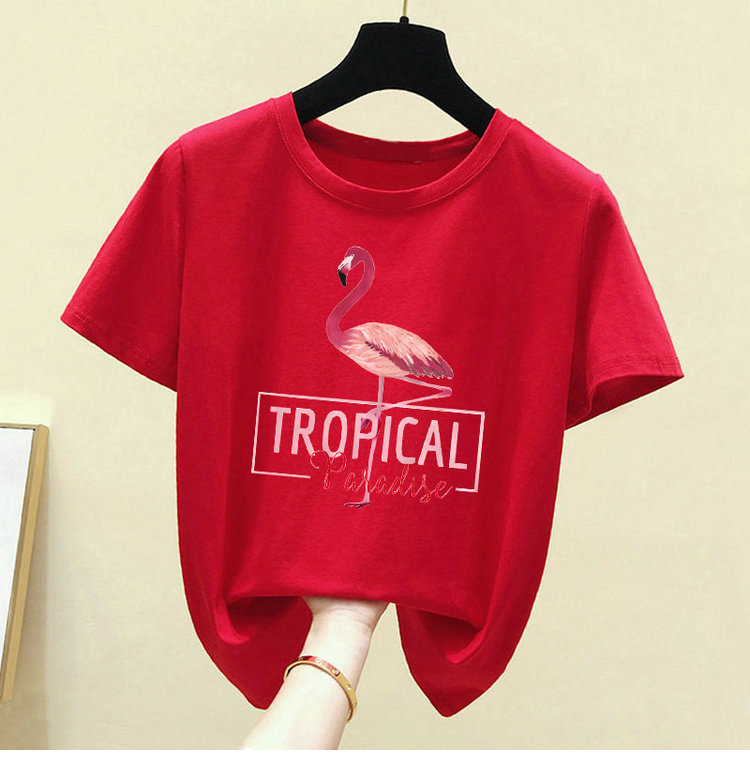 H0bfa25bed2174b269eb496f6bb6d6feel - Harajuku White T shirt Women Clothes Red Summer Vintage Pink Cotton TShirt Women Tops Korean Kawaii Print Black Tee Shirt
