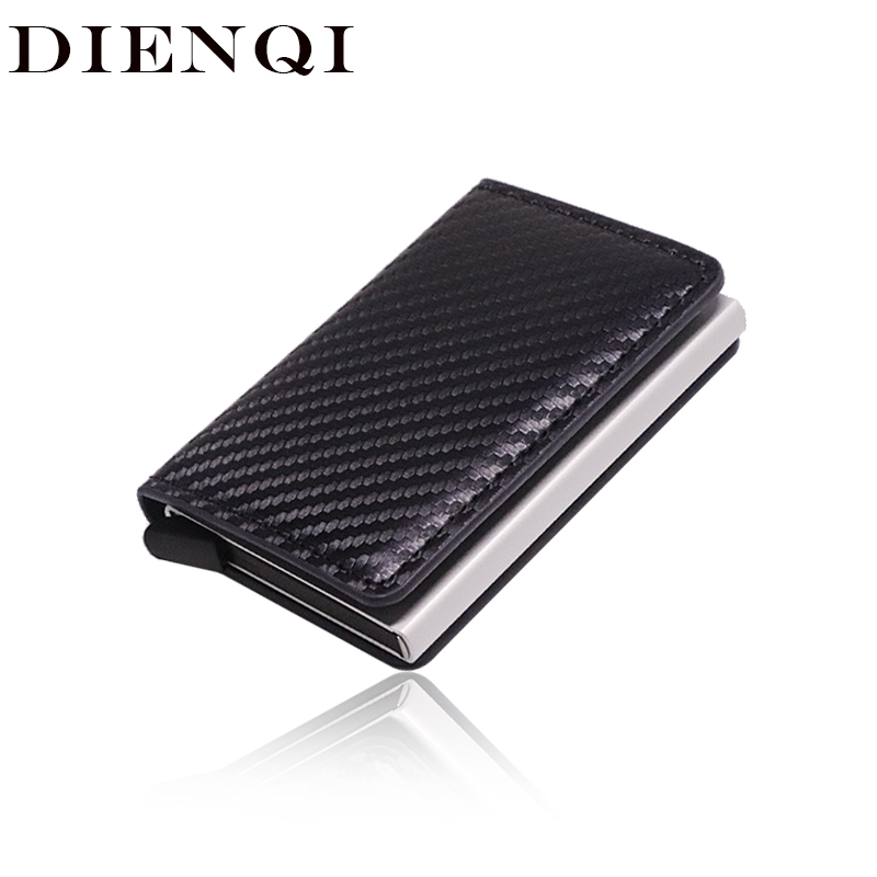Anti Rfid Blocking Protection Men Id Credit Card Holder Wallet Leather Metal Aluminum Business Bank CreditCard Case Cardholder