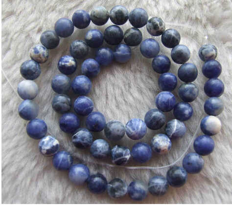1103+++6mm Natural Color Sodalite Round Loose Beads Spacer DIY Strand Stone 15""