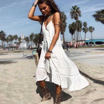 TEELYNN strap boho dress 2019 white rock lace midi summer dresses sexy sleeveless brand women Dresses beach Gypsy loose Vestidos - DISCOUNT ITEM  35% OFF All Category