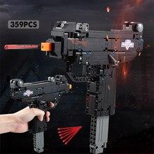 359 шт. пустынный Орел пистолет MK23 пистолет УЗИ пистолет-пулемет военные ww2 строительные блоки для техника городская полиция swat может