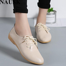 NAUSK Genuine Leather Summer Loafers Women Casual Shoes Mocc