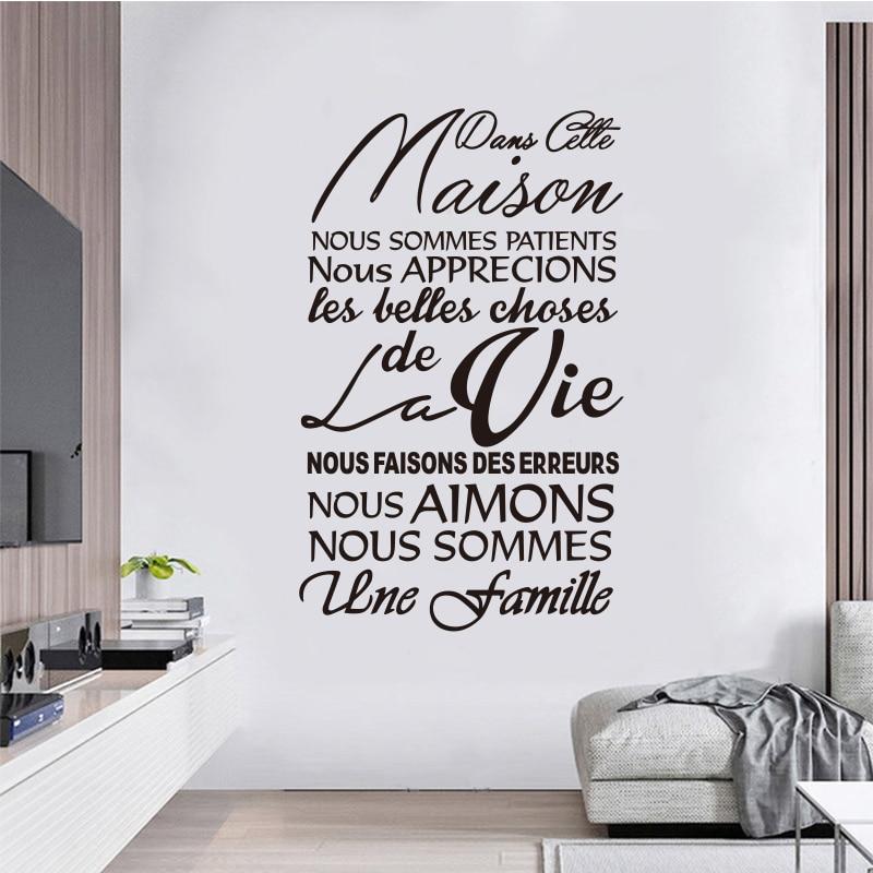 Etiqueta de la pared de vinilo extraíble francés Dans Cette Maison - Decoración del hogar - foto 4