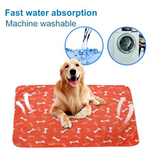 Washable Pet Pee Pads Mat Waterproof Dog Bed Puppy Urine Pads Puppy Pee Pad Reusable Pet Dog Diaper Fast Absorbing Pad Rug(China)