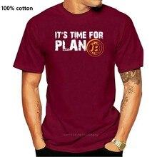 Tempo para o plano bitcoin btc crypto moeda t camisa de manga curta personalizado t camisas pp camisa de algodão crewneck tamanho grande