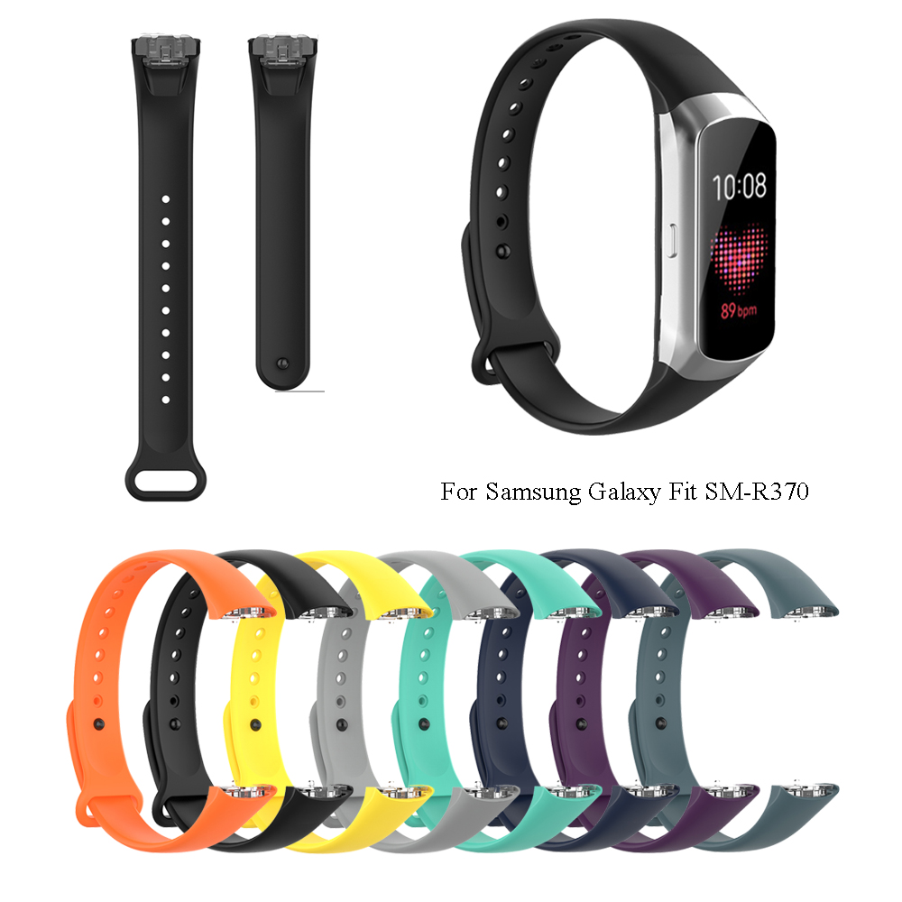 1PC Replacement Accessories Soft Silicone Watch Band Bracelet Strap For Samsung Galaxy Fit SM-R370 Smart Watch Accessories