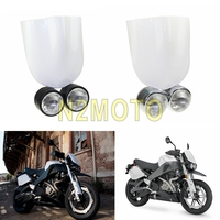 Motorcycles Black Twin Dominator Headlight White Headlight Faring Windshield for Harley Softail Fatboy Dyna Touring Racer