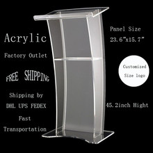 Acrylic Podiums Pulpits Lectern/ Podium / Rostrum Acrylic Church Lectern Clear Acrylic Church Pulpit Wooden Podium Modern Pulpit(China)