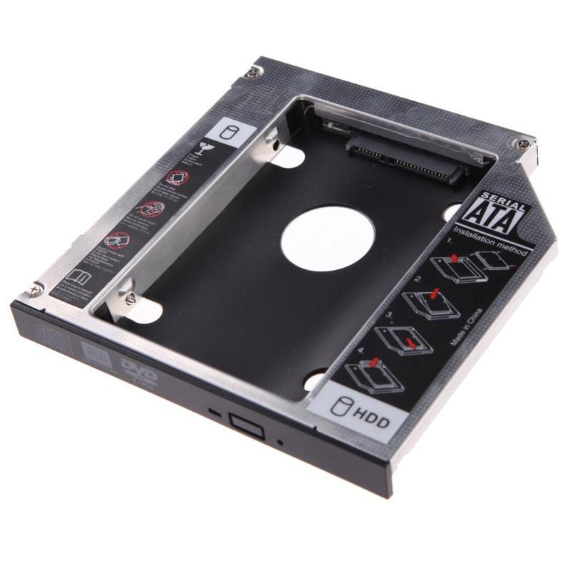 Hard Disk Drive Bay Universal 2.5 2nd 12.7mm/9.5mm Ssd Hd SATA Hard Disk Drive HDD Caddy Adapter Bay For Cd Dvd Rom Optical Bay