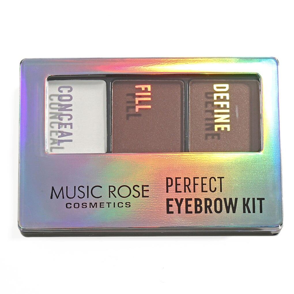 3 Colors Eyebrow Powder  Eye Brow Palette Waterproof Eyeshadow Cosmetic Eye Makeup Professional Powder Cosmetic Tools