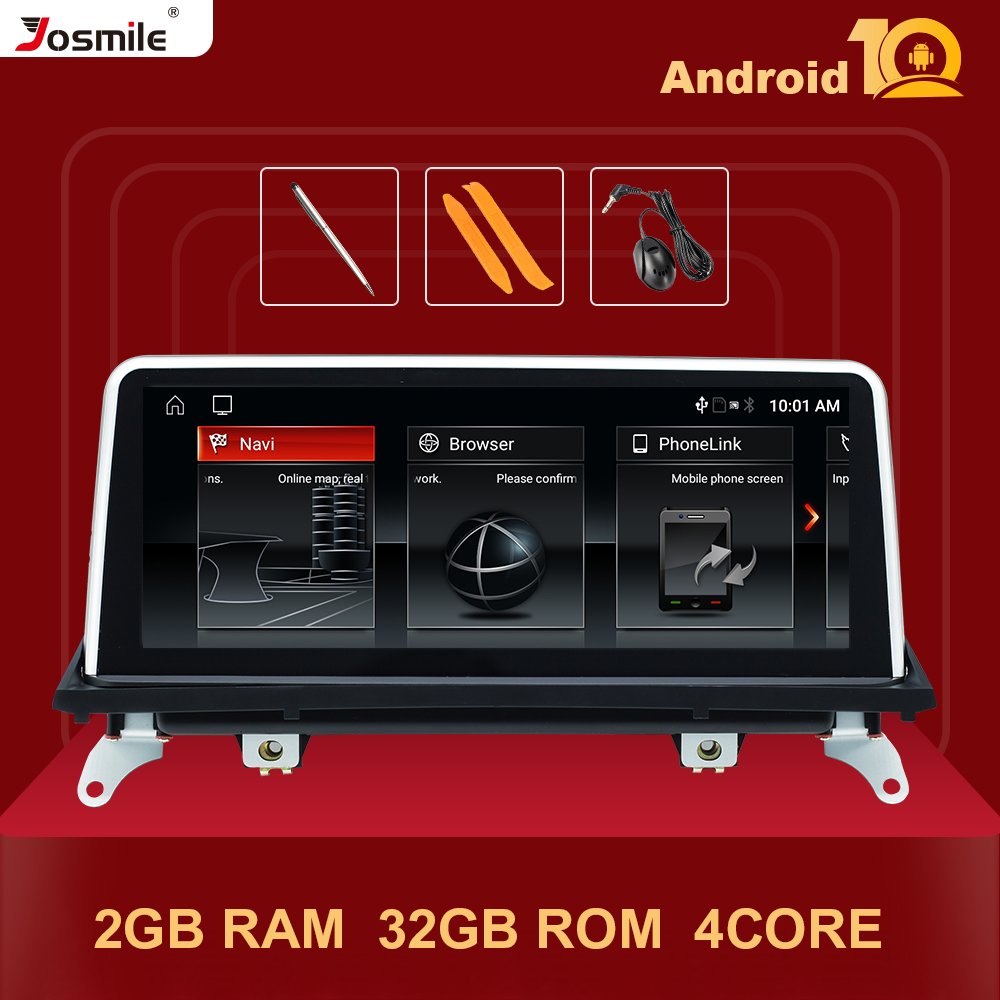 4 Core IPS Screen Android 10.0 Car Radio Multimedia Player For <font><b>BMW</b></font> X5 <font><b>E70</b></font> X6 E71 2007-2013 Original CCC or CIC GPS Navigation image