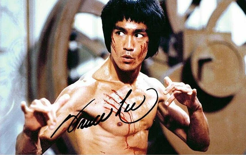 Signed Foto With Bruch Lee