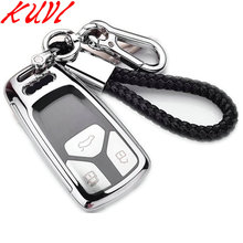 PC+TPU Remote 3 Buttons Silicone Car Key Fob Cover Case Shell Holder chain For Audi A4 Allroad B9 Q5 Q7 TT TTS 2016 2017