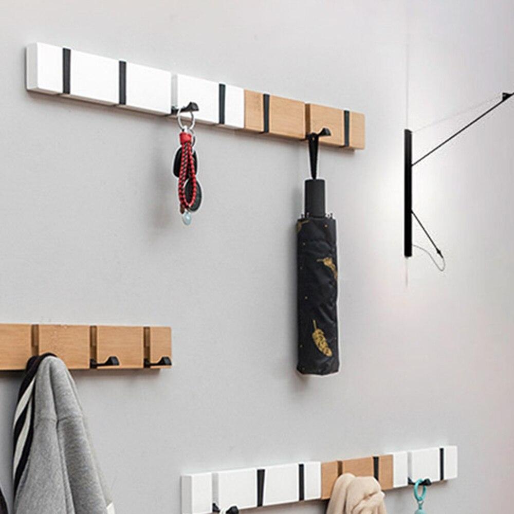 Nordic Fashion Home Decor Nailless Folding Coat Rack Hallway Bedroom Door Hat Clothes Rack Hanger Kitchen Toilet Wall Brack Hook