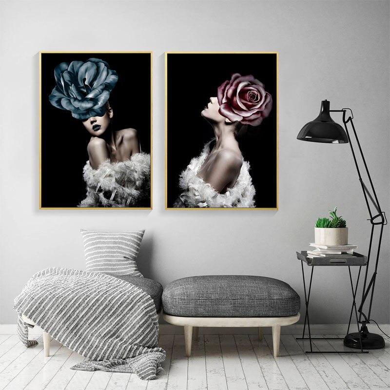 €2.01 50% de réduction|Nordique moderne Rose papillon toile Art affiches  imprime scandinave peinture mur photo pour salon moderne décoration de la  ...