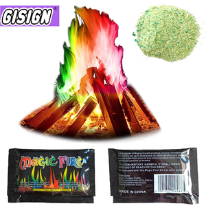 Mystical Fire Magic Tricks Coloured Flames Bonfire Sachets Fireplace Pit Patio Toy Professional Magicians illusion Pyrotechnics(China)