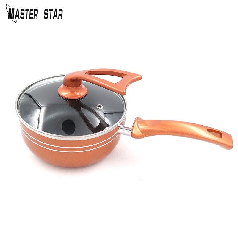 Master Star медь 1L емкость для молока для еды тела кухонная кастрюля здоровая быстронагревающая суповая сковорода