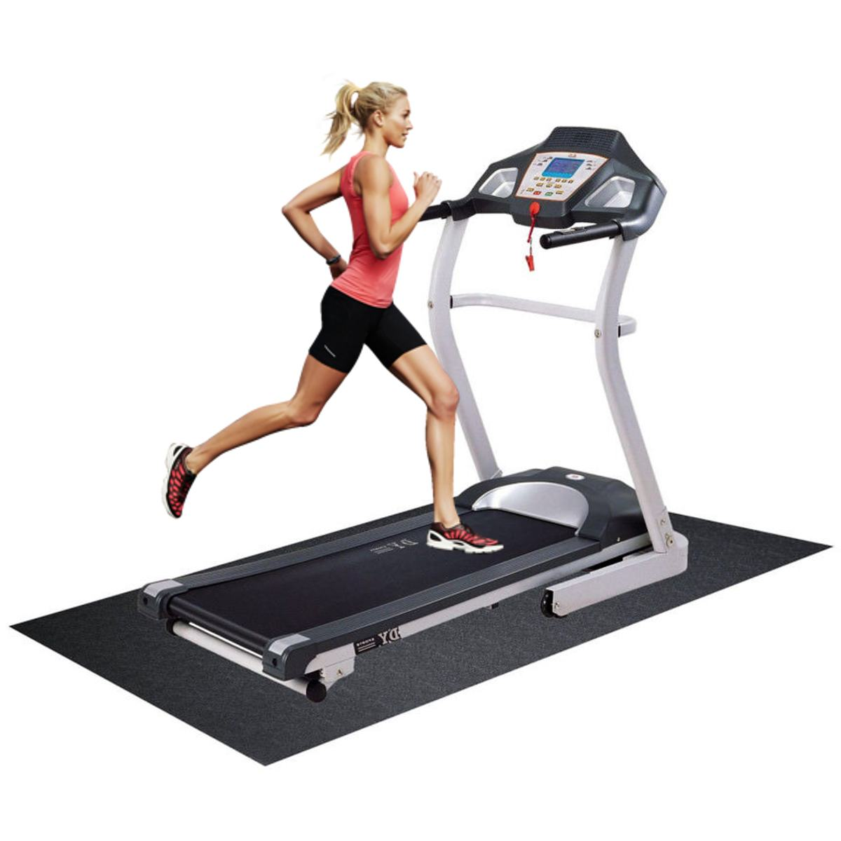 180x75cm nbr esteira do exercício ginásio equipamentos de fitness para a bicicleta da esteira da esteira da esteira do assoalho que corre a almofada absorvente de choque da máquina preto
