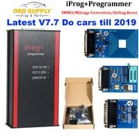 새로운 도착 iprog + iprog pro 프로그래머 지원 immo 마일리지 수정 에어백 재설정 2019 년 내내 carprog tango