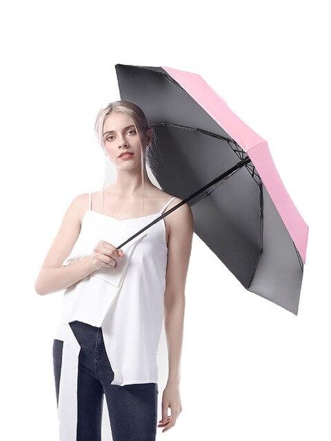Five-holding sun umbrella sun protection UV folding umbrella female sunshade rain dual-use capsule compact portable pocket 5