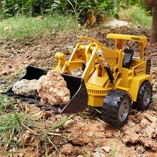 Remote Control Simulation Excavator Engineering Car Model Children Toy Gift Bulldozer Model USB Charging Toys New Year Gifts