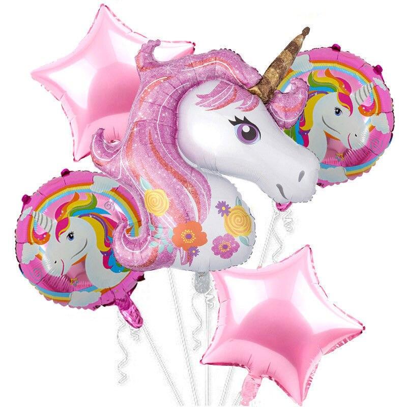 Большой единорог, набор из двух предметов, латексный гелиевый шар, комбинированное украшение для праздвечерние, вечеринки, дня рождения для...