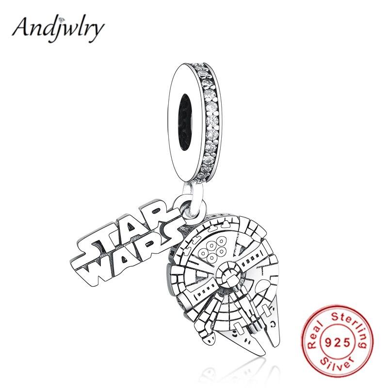 Fit Original Pandora Charms Bracelet 925 Sterling Silver Starwars Dangle Charm Pendant DIY Jewelry Berloque 925