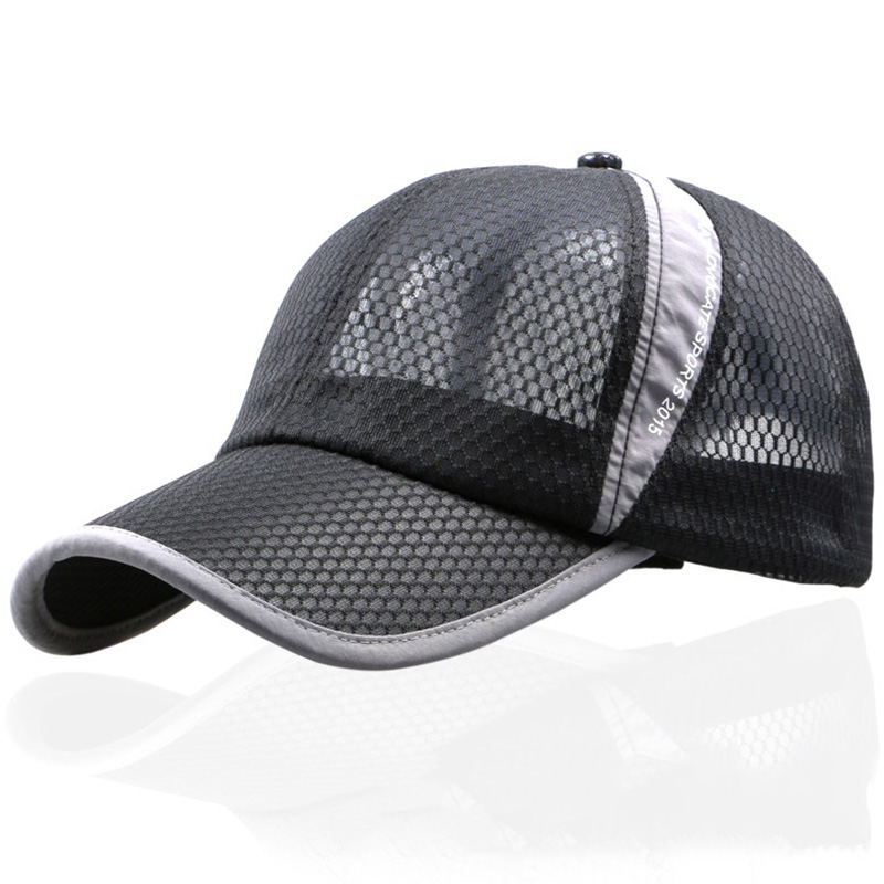 3 Colors High Quality Fashion Women Cap Men's Sunscreen Summer Hat Mesh Tennis Running Outdoor Sports Cap