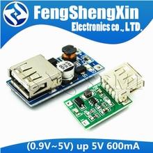 Carregador portátil DC-DC 0.9v-5v para 5v 600ma, power bank, impulsionador, módulo de fonte de tensão placa de circuito de carregamento, saída usb