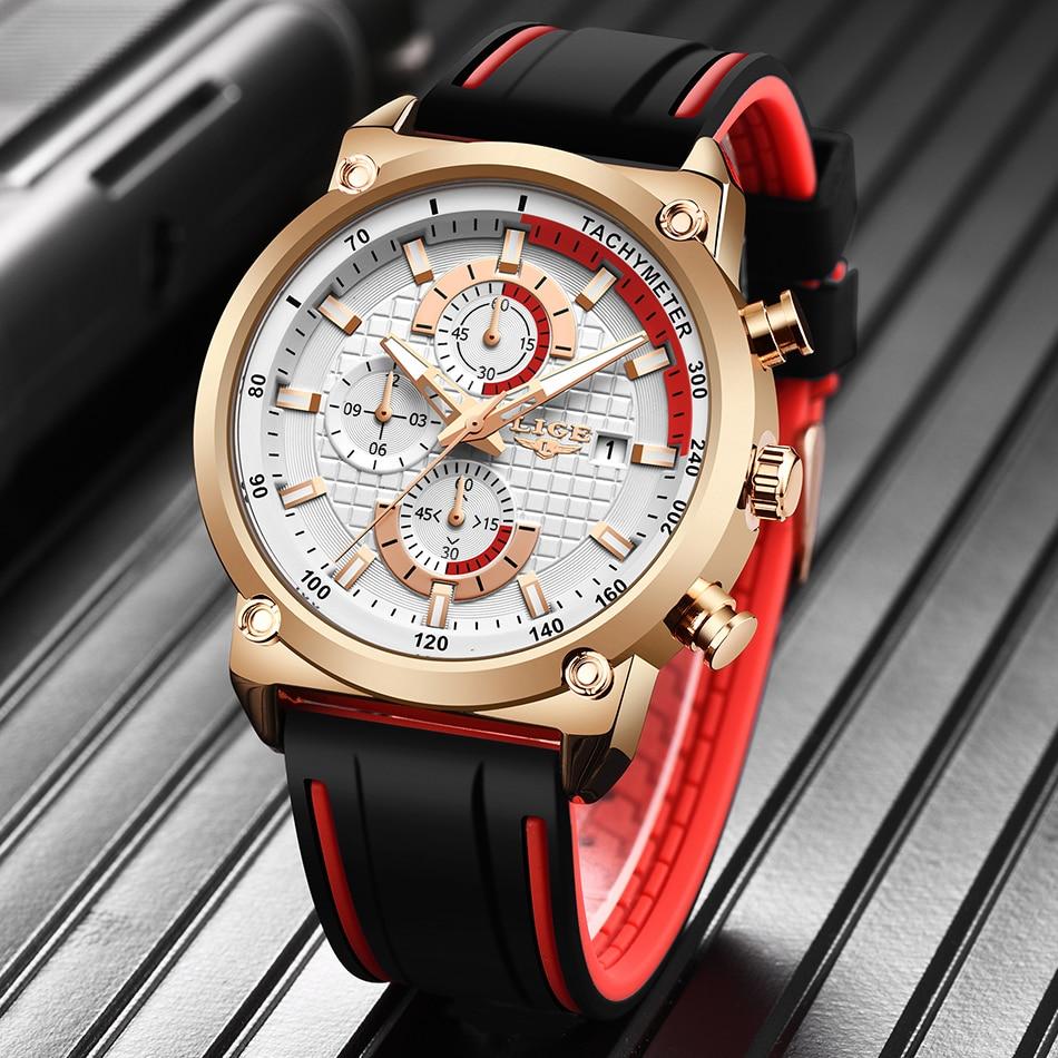 H0bfc4993c6ff45bd9fc3f381a70ee5d8M New Top Fashion Chronograph Quartz Men Watches LIGE Silicone Strap Date Wristwatch Clock Male Luminous Watch Relogio Masculino