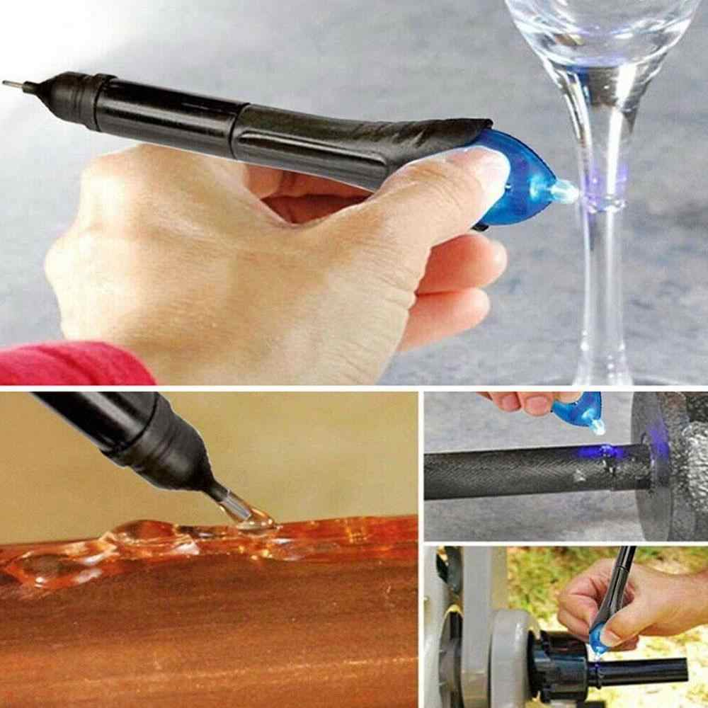 إصلاح القلم لحام 5 ثانية سريعة الإصلاح الأشعة فوق البنفسجية ضوء أداة إصلاح لحام القلم بالطاقة السائل مجمع البلاستيك عدة Dip سوبر H6L2
