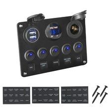 LEEPEE 12V étanche voltmètre numérique double Port USB sortie combinaison voiture Marine navire LED interrupteur à bascule panneau