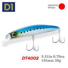 D1 Minnow Fishing Lures 135mm 20g Jackbait Wobbler Floating Hard Bait pike seabass perch For Lure Artificial Fishing Tackle