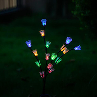 Outdoor LED Solar Lights LED Christmas LED Lights Solar Lamp For Home Outdoor Garden Decorations Solar 16 Led Bell Flower Light