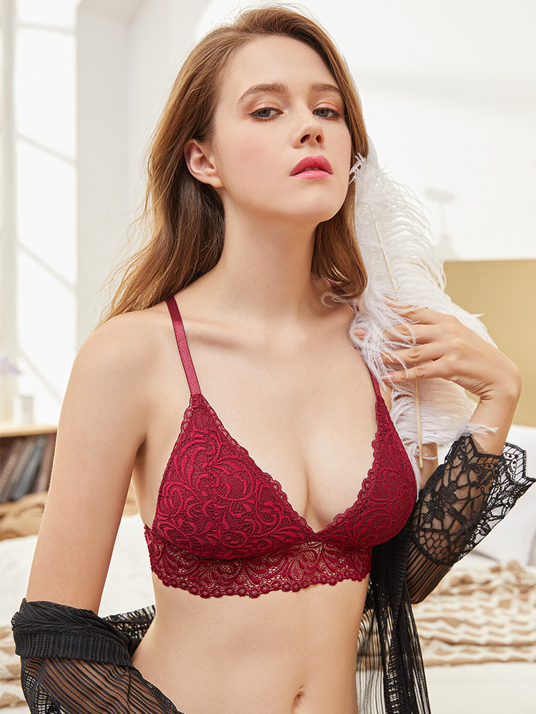 Blinvas Wireless-Bras Push-Up-Bra Y-Line-Straps Lace Women Lingerie Backless Sexy Bralette