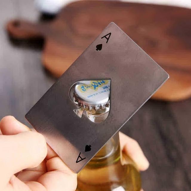 Poker Ace of Spades Beer Opener