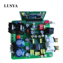 Lusya Csr8675 Bluetooth 5.0 Decoder Board AK4490 Fiber Bluetooth Input APTX-HD with Antenna dual AC 12V T0520(China)