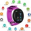 Bluetooth חכם שעון לחץ דם עגול Smartwatch גברים נשים שעון עמיד למים ספורט Tracker עבור אנדרואיד iOS
