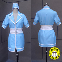 Super Sonico The Animation SUPERSONICO Cosplay Costume Sexy Blue Nurse Dress Halloween/Party Role Play Clothing Custom Make Any